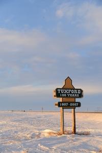 Tuxford town sign