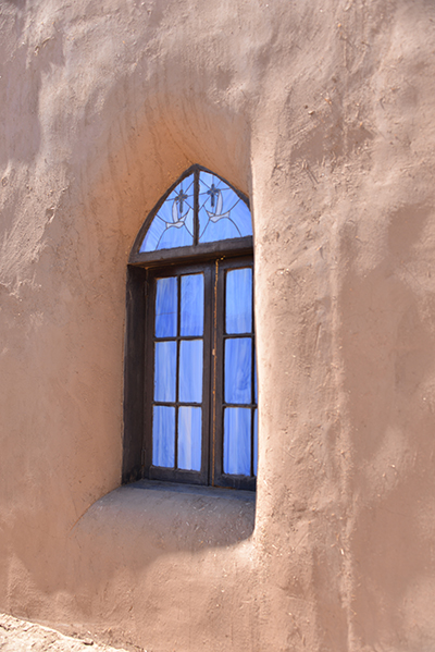 Church Window with adobe