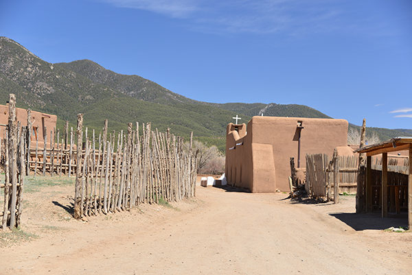 Entering the Pueblo