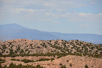The foothills and Sangre de Cristo mountains as we approach Chimayo, NM.