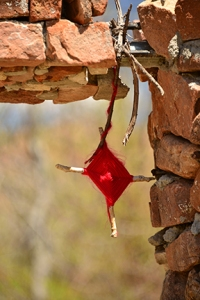 Ojo de dios, just one of the many crosses at Chimayo.