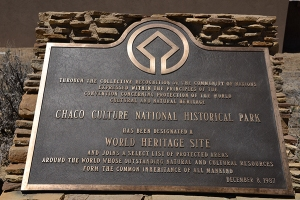Chaco Culture Historical Park was designated a UNESCO World Heritage Site in 1987.
