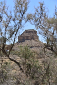 Fajada Butte, the imposing landmark at the entrance to Chaco Canyon.