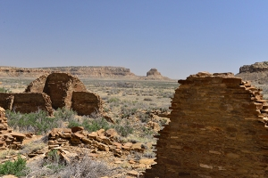 The view from Hungo Pavi includes Fajada Butte.