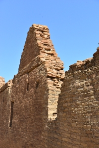 An ancient Pueblo wall reminiscent of European fortress walls.