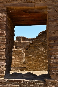 As far as the eye can see - wall beyond wall witness to an ancient Pueblo settlement.