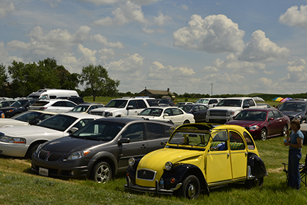 Visitors come from near and far to take in the annual event. The makeshift parking lot was overflowing by early afternoon.