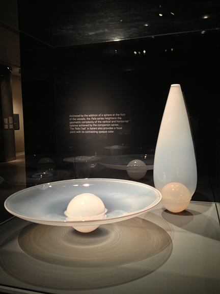 "My favorite set was ""Palla Set"". It concentrates on the addition of an opaque sphere at the center of each piece, giving the sculpture weight and adding a definite focal point."