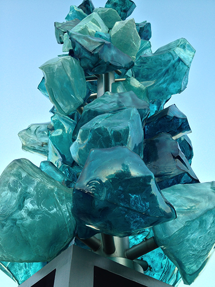 And here is a close up look at the glass rocks.
