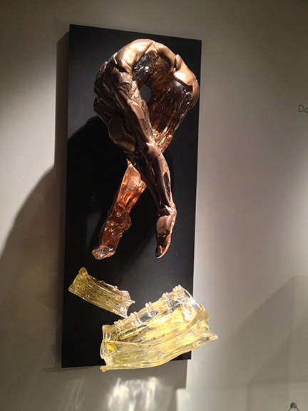 Another dynamic glass sculpture - depicting the human figure.