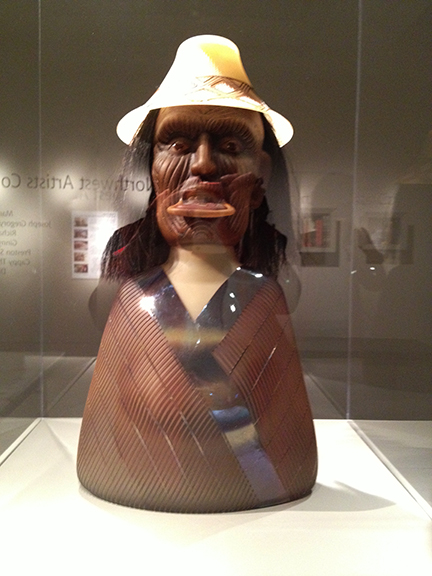 This bust was also created by Preston Singletary - a talented North West First Nations Artist.
