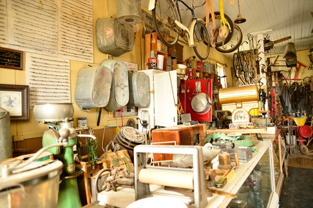 The hardware store - organized mess on the left and...
