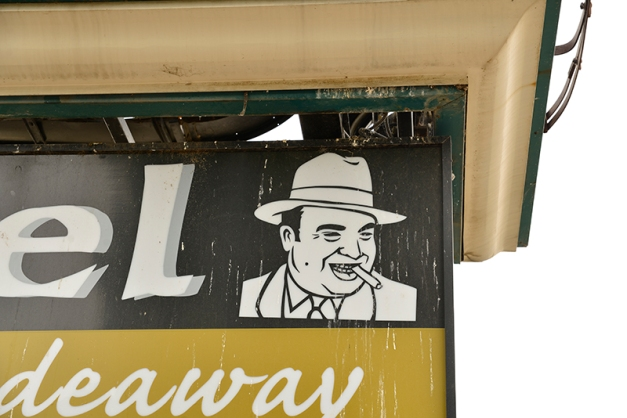 ...and we all know this famous mug - Mr. Al Capone found on the sign of Capone's HIdeaway.