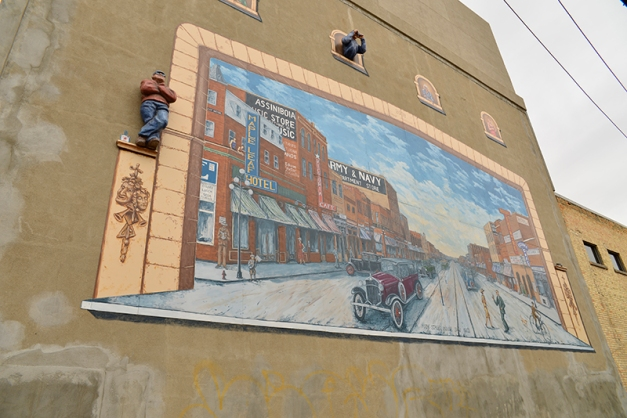 My favorite mural on the back of the Cultural Center is often overlooked. It borders on to a parking lot and alley.