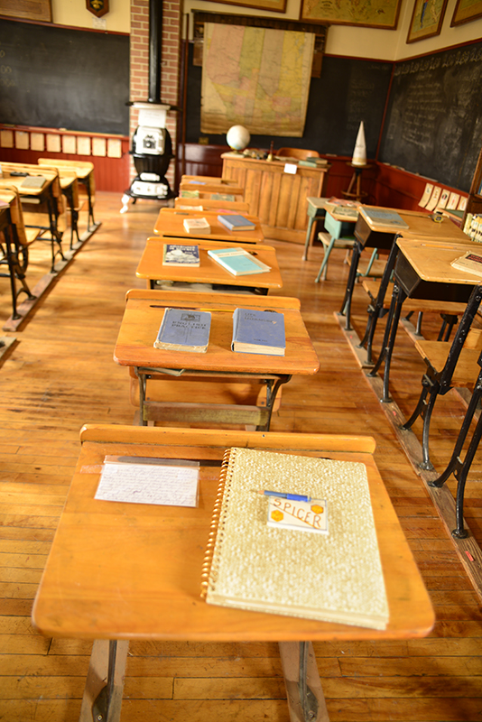 old school desks bring back vivid memories of fearly school days in Germany