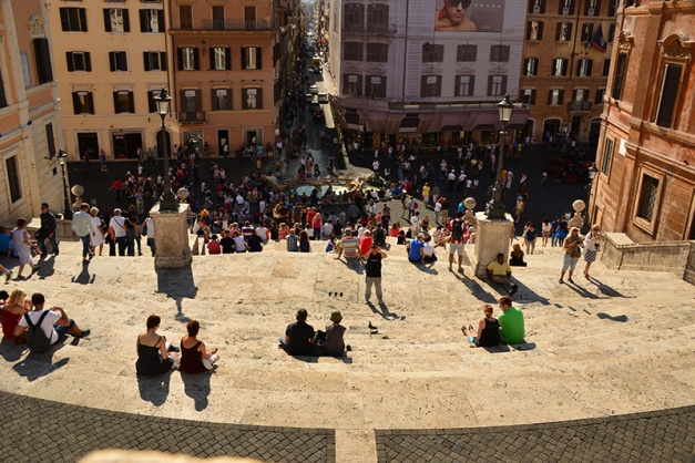 view from top of Spanish Steps