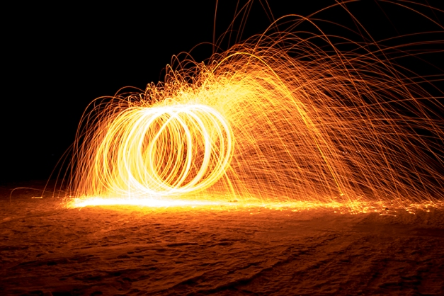 Steelwool light painting