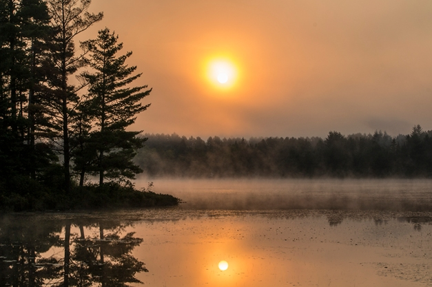 Algonquin Park autumn morning mist