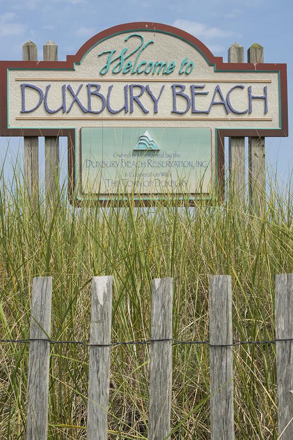 Duxbury Beach sign
