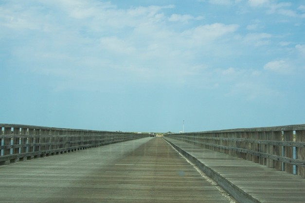 over the bridge to Duxbury beach
