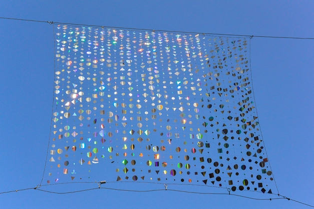 ...and these kinetic art installations stretched between buildings made sure that the sparkle caught every visitor's eye.