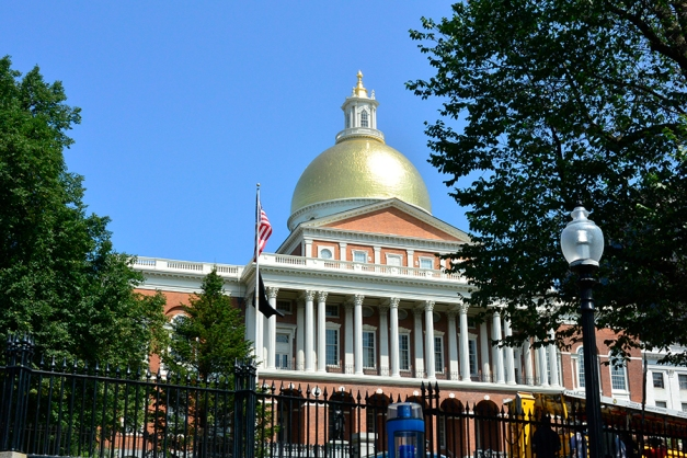 As we made our way back to the Freedom Trail we left the New State House with its gleaming gold cupola behind.