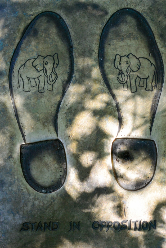 ...and the soles with elephant imagery...