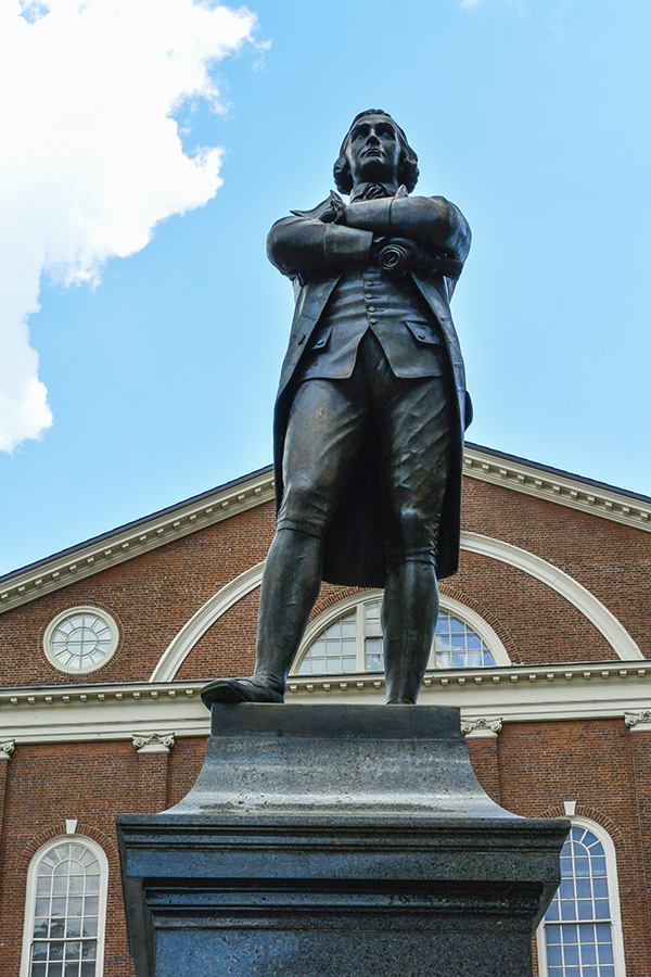 A closer look at Samuel Adams - looking up, way up!