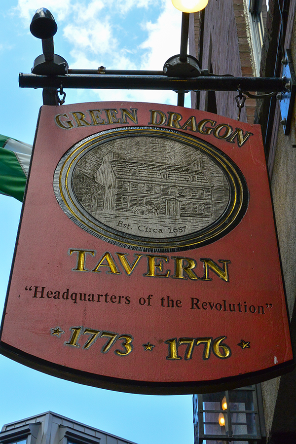 We soon passed this eye catching sign, informing us that Paul Revere drank here...