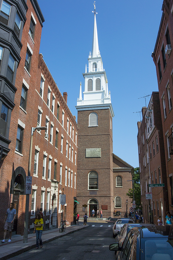Old North Church - the place Paul Revere's lantern was hung in the tower.