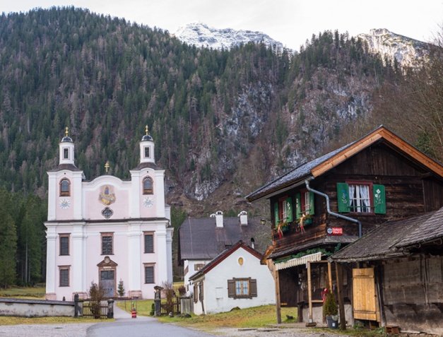 A short walk into the valley lead us directly to St. Mary's. The church dates from the period 1694 to 1701, and is considered one of the the most important pilgrimage churches in the Salzburg region.