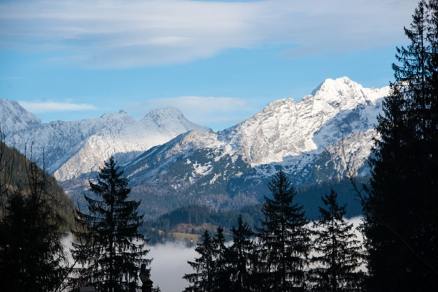 A short day trip from my hometown Ruhpolding in Bavaria to the Lofer region , Austria region on December 19th, 2014 in search of snow only provided us with views of snowy mountain peaks.