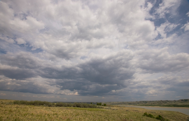 clouds over Diefenbaker